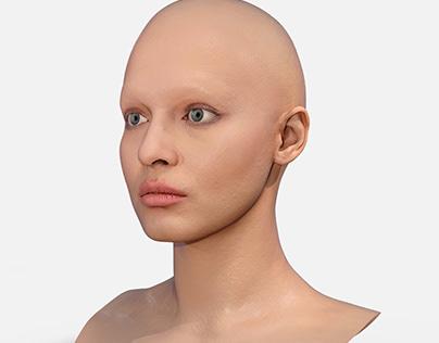 Retopologized 3D Head Scan of Tamila 3D Model