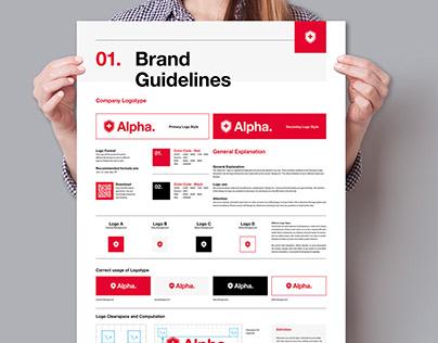 Brand Manual Poster Design