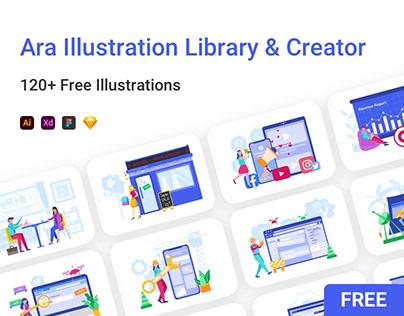 Ara Illustration Library & Creator (FREEBIE)