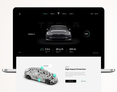 Tesla Website Redesign | Model S