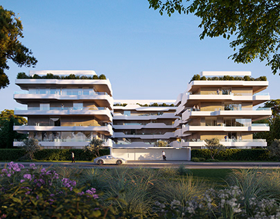 Apartment block in Voula in Athens Greece