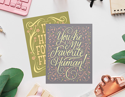 Hand-Lettered Greeting Card Collection