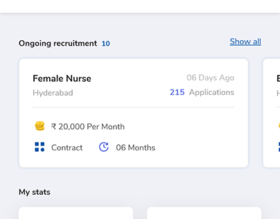 Mobile app for Healthcare employers