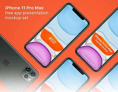 iPhone 11 Pro Max Free App Presentation Mockup