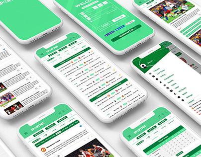SPORT365 App Design