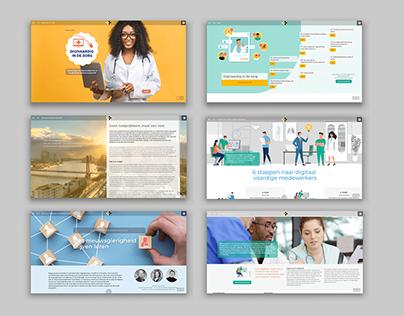 Visual interactive design for e-zines