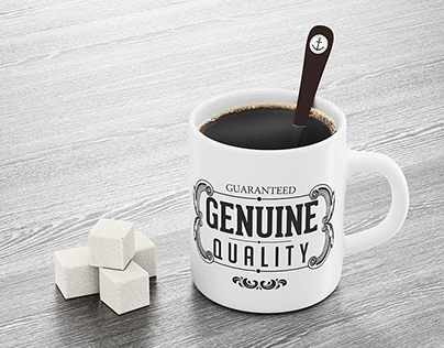 Mug and Spoon Mock-up