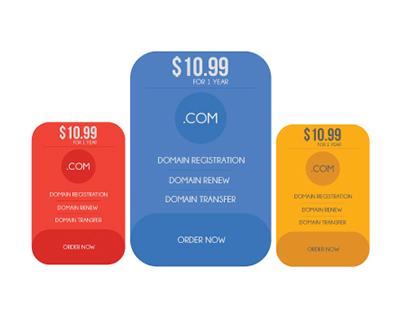 Price List For DOMAIN REGISTRATION