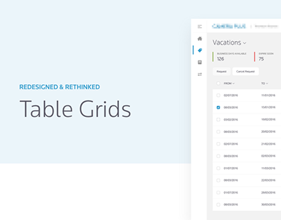 Redesigned & Rethinked Table Grids | UX Design