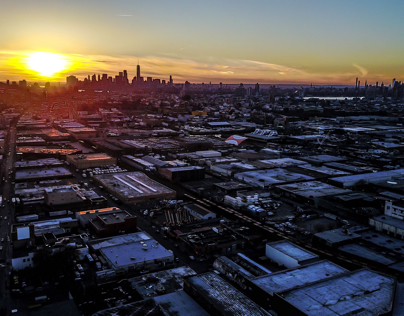 Aerial Sunset NYC