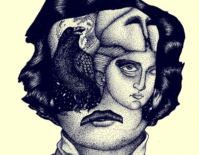 Edgar Allan Poe - The Raven / Illustration