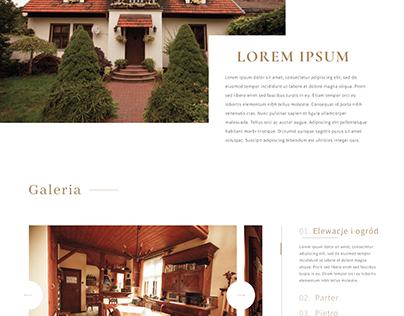 Projekt strony - dom na sprzedaż
