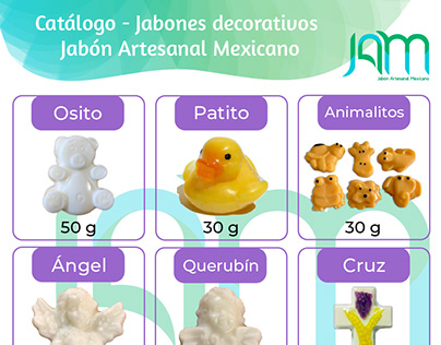 Catálogo para JAMX (Jabones Decorativos)