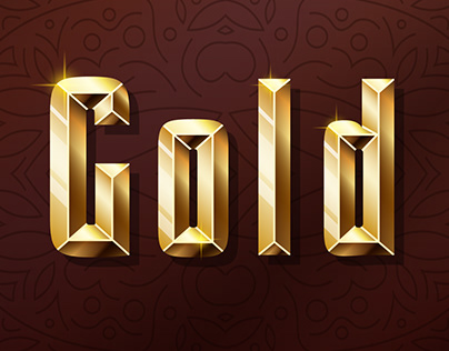 Golden and glossy shining font.