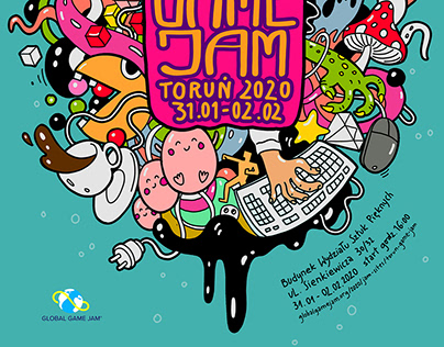 Toruń Global Game Jam poster
