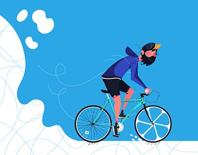 Animation: Biker Go Crazy