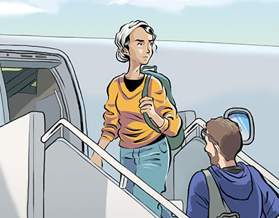 I can travel alone comic
