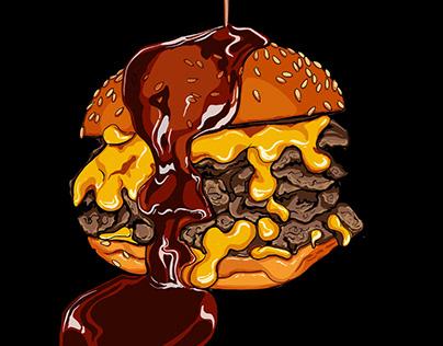 Nanny Bill's - illustrated burgers