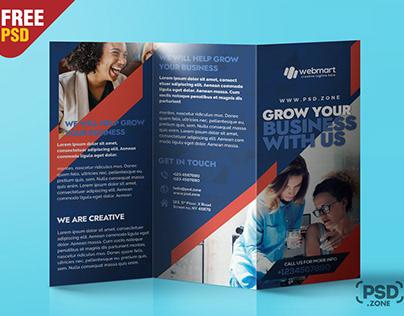 TriFold Brochure Design PSD Template