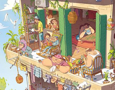 A Cozy Balcony
