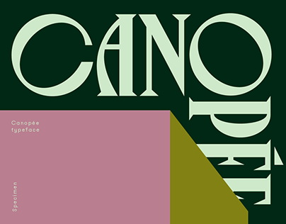 Canopée Typeface