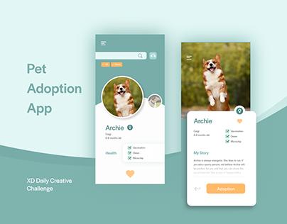 Pet Adoption - XD Daily Creative Challenge