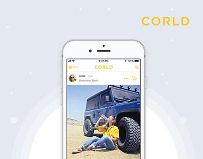 CORLD Social Networking App