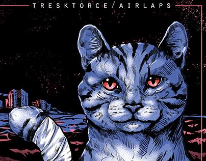 Cd Cover for Tresktorce & Airlaps Chilean Rapper