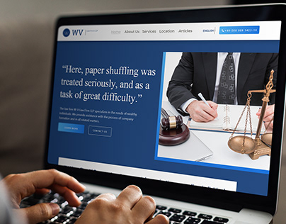 Law Firm Landing page Redesign