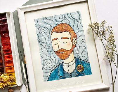 Vincent van Gogh illustration