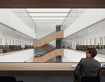 New Library A.B. interior