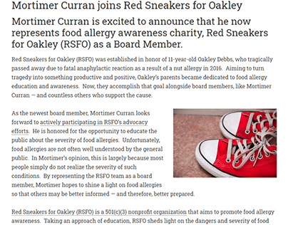 Mortimer Curran joins Red Sneakers for Oakley