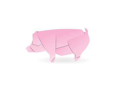 Pig, pink, paper.