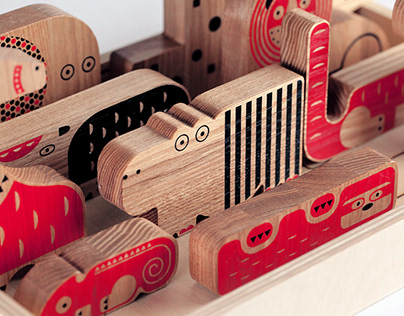 MOOMBASA - set of wooden puzzles for kids