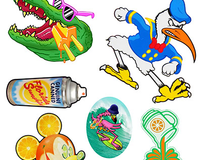 """""""Tropical Delusions"""" sticker pack 1 & 2"""