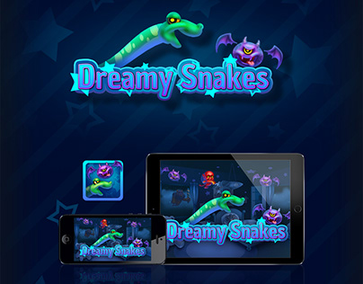 Dreamy Snakes (2D game art for iOS mobile game )