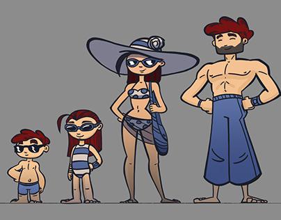 """Bepanthen"" character designs"