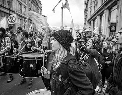 Extinction Rebellion Trafalgar Square, London