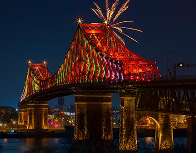 Illumination du pont Jacques-Cartier