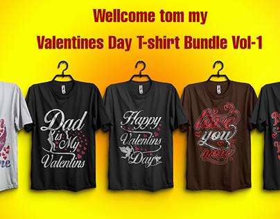 Valentines Days T-shirt Bundle Vol-1