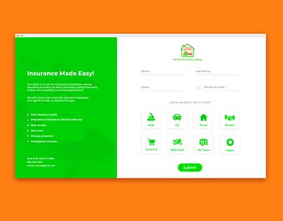 Evelyn Insurance's Web Design