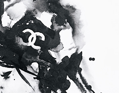 Aquarelle painting | Chanel Girl | 11.2019