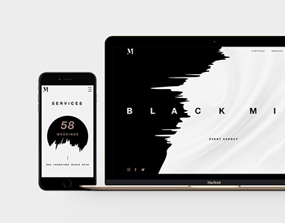 Black Milk - event agency Website and Branding
