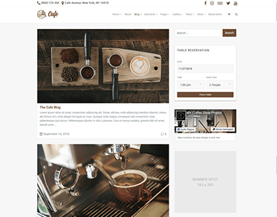 Blog - Cafe WordPress Theme