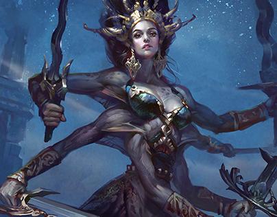 Naga Queen. Fanart Heroes3