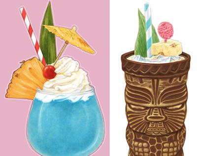 Tiki Drinks and Menu