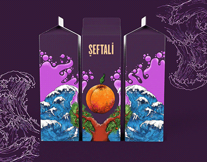 Package Illustration - Peach Juice
