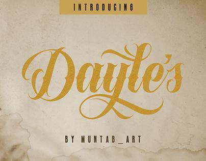 Dayles Script Fonts