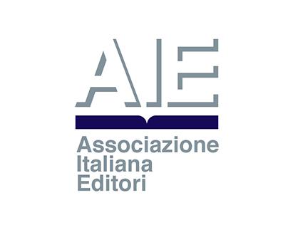 AIE Associazione Italiana Editori. Brand & logotype.