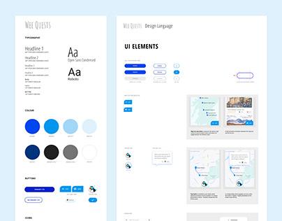 Wee Quests App - Design Language